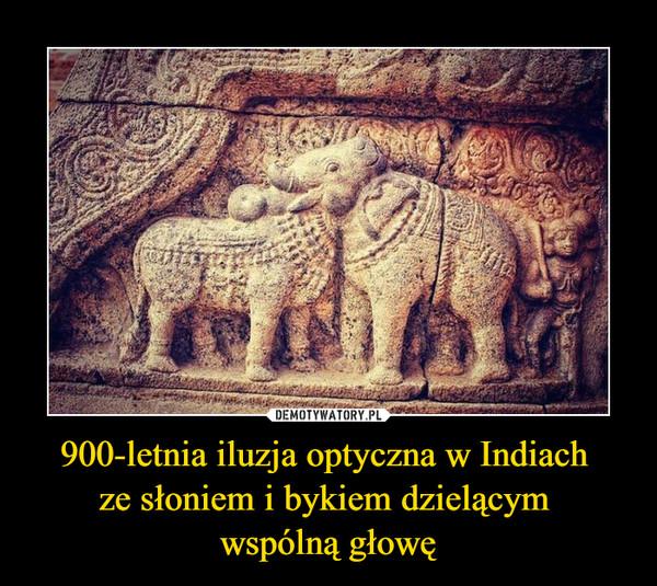 900-letnia iluzja optyczna w Indiach ze słoniem i bykiem dzielącym wspólną głowę –