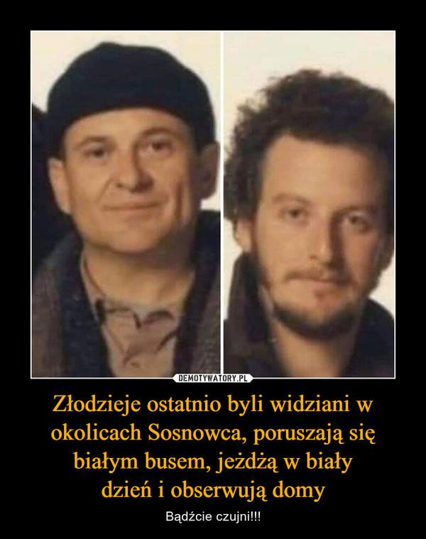 Złodzieje ostatnio byli widziani w okolicach Sosnowca, poruszają się białym busem, jeżdżą w białydzień i obserwują domy – Bądźcie czujni!!!