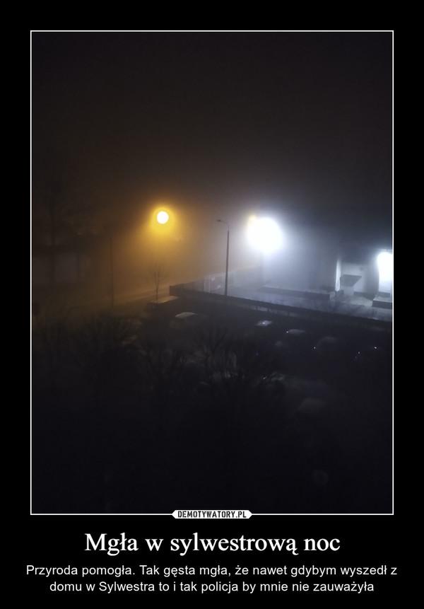 Mgła w sylwestrową noc – Przyroda pomogła. Tak gęsta mgła, że nawet gdybym wyszedł z domu w Sylwestra to i tak policja by mnie nie zauważyła