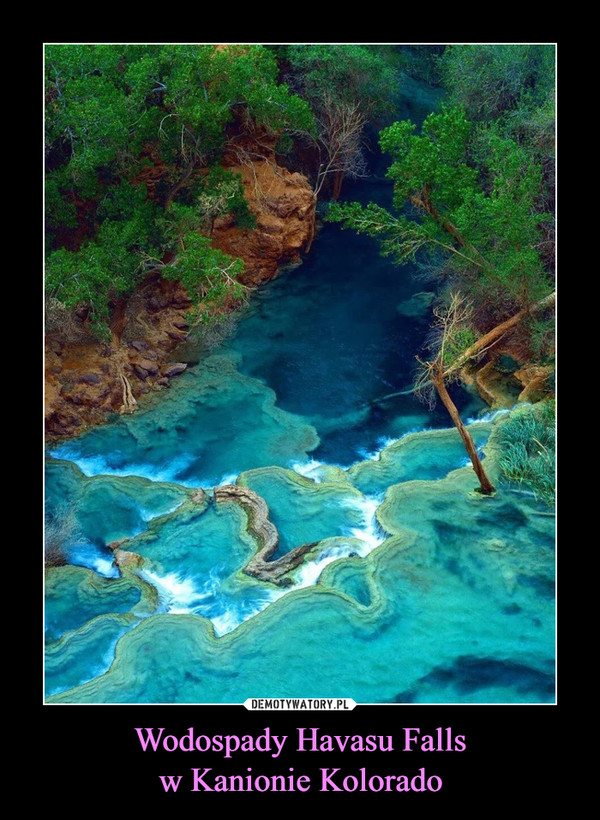 Wodospady Havasu Fallsw Kanionie Kolorado –