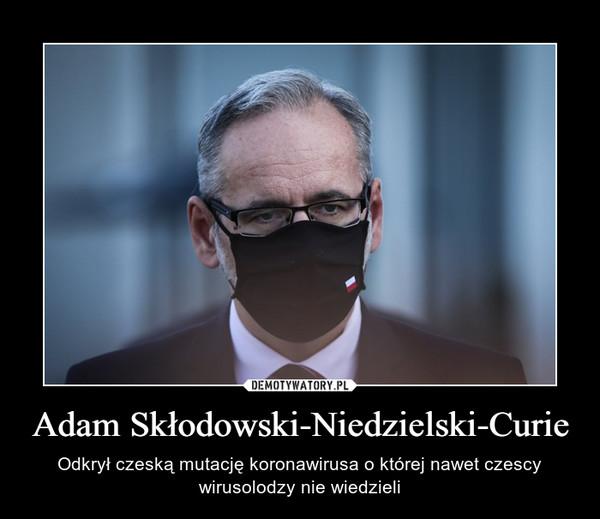 Adam Skłodowski-Niedzielski-Curie – Odkrył czeską mutację koronawirusa o której nawet czescy wirusolodzy nie wiedzieli