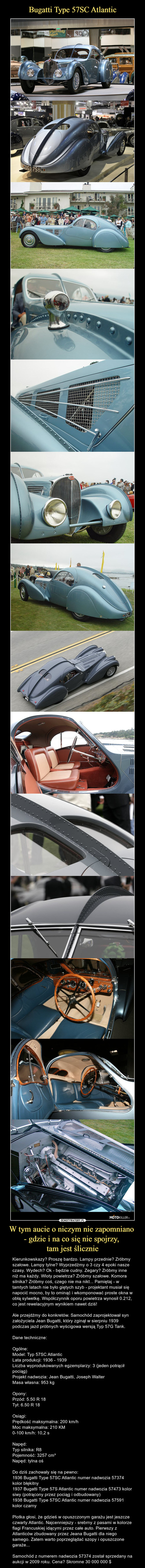 Bugatti Type 57SC Atlantic W tym aucie o niczym nie zapomniano  - gdzie i na co się nie spojrzy,  tam jest ślicznie