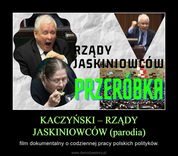 KACZYŃSKI – RZĄDY JASKINIOWCÓW (parodia) – film dokumentalny o codziennej pracy polskich polityków.