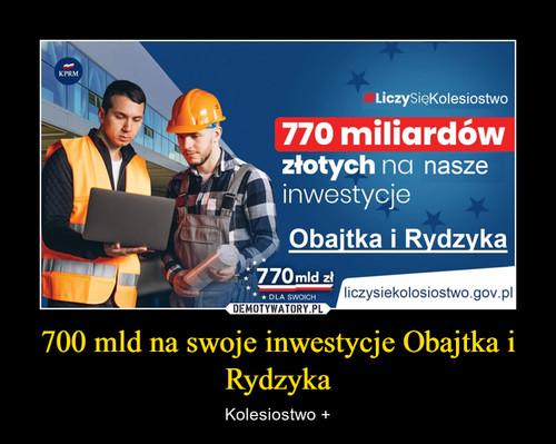 700 mld na swoje inwestycje Obajtka i Rydzyka