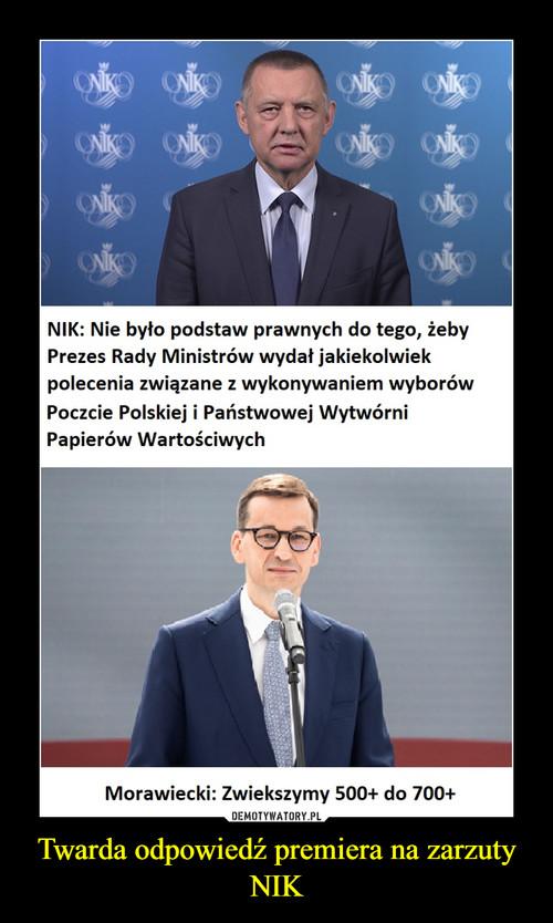 Twarda odpowiedź premiera na zarzuty NIK
