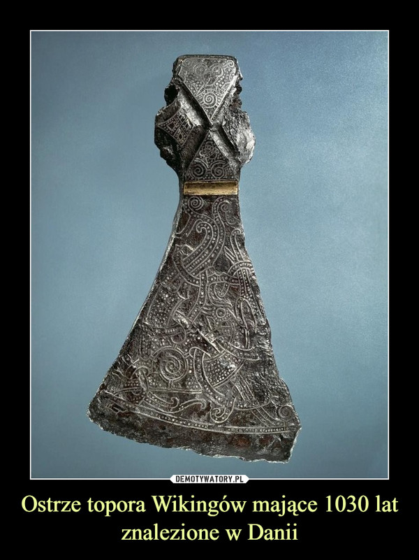 Ostrze topora Wikingów mające 1030 lat znalezione w Danii –
