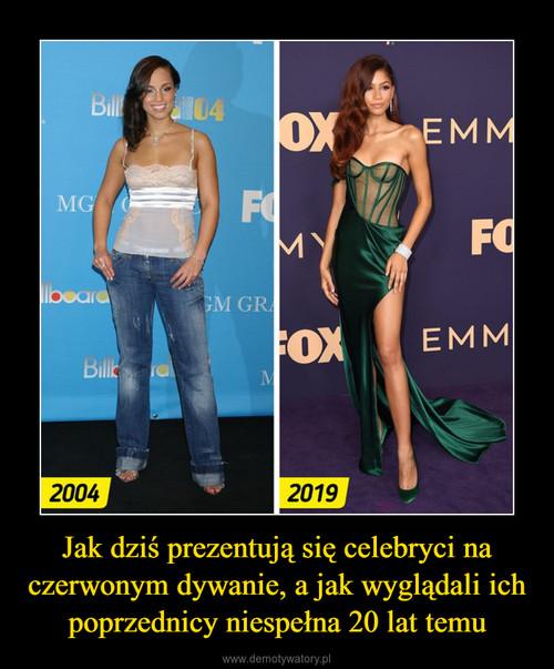 Jak dziś prezentują się celebryci na czerwonym dywanie, a jak wyglądali ich poprzednicy niespełna 20 lat temu