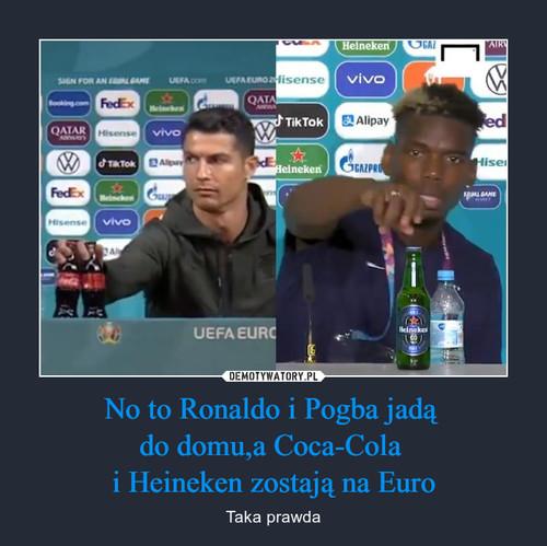 No to Ronaldo i Pogba jadą  do domu,a Coca-Cola  i Heineken zostają na Euro