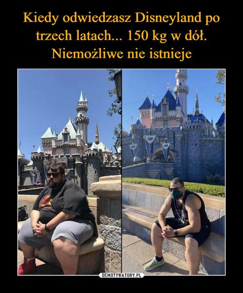 Kiedy odwiedzasz Disneyland po trzech latach... 150 kg w dół. Niemożliwe nie istnieje