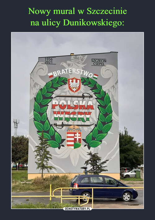 Nowy mural w Szczecinie na ulicy Dunikowskiego: