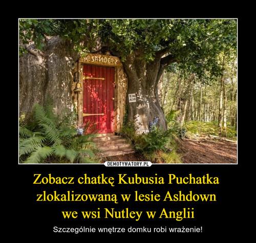 Zobacz chatkę Kubusia Puchatka  zlokalizowaną w lesie Ashdown  we wsi Nutley w Anglii