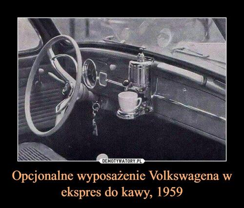 Opcjonalne wyposażenie Volkswagena w ekspres do kawy, 1959